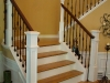 Wood Staircases With Iron Balusters